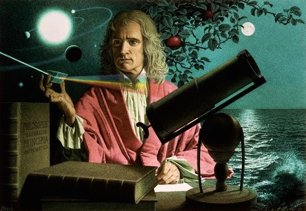 Sir Isaac Newton (Illustration by Jean-Leon Huens, National Geographic)