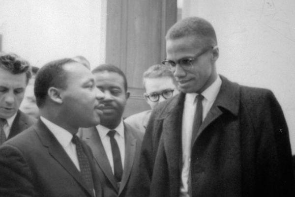 Martin Luther King ve Malcolm X'in ilk ve tek görüşmesi.